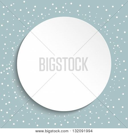 Nice ornament with white dots and volume circle. Fine greeting card