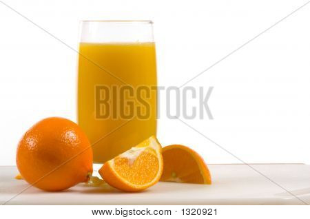 Fresh Orange Juice With Fresh Oranges