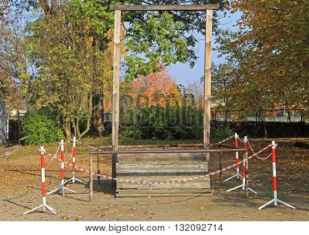 Gallows In Auschwitz I Concentration Camp