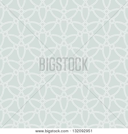 Seamless ornament. Modern geometric light blue pattern with repeating white elements