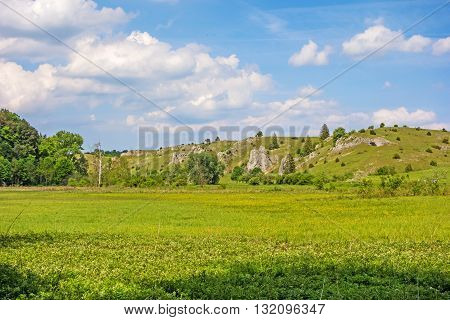 Eselsburger valley - impressive rocks near river Brenz - jewel of the swabian alps
