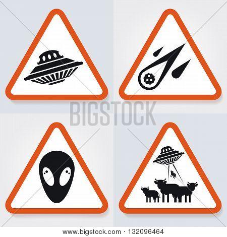 Set Of Warning Plates
