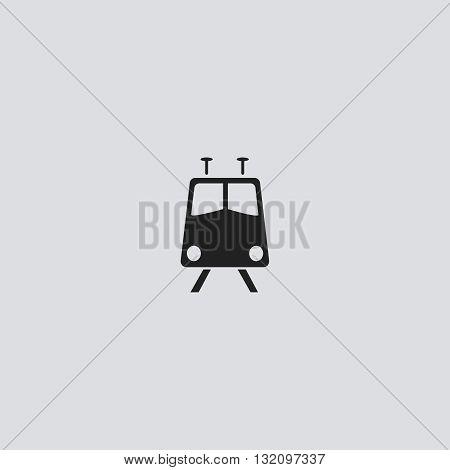 Train Icon Vector. Train logo. Train  Sign.