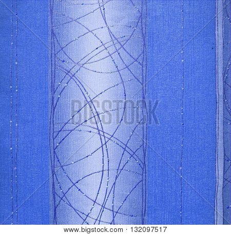 BLUE, ABSTRACT RAISED LINE PATTERN ON ROUGH PAPER , BACKGROUND