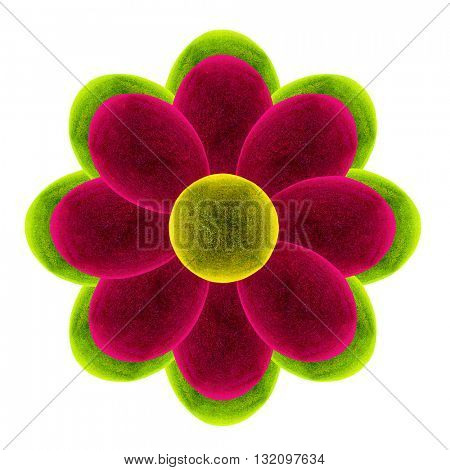 Fantastic Flower. 3D illustration