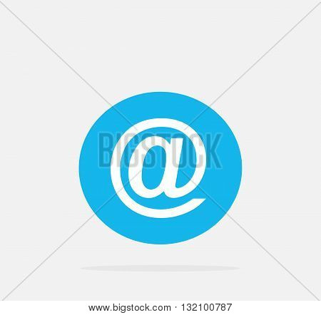 At mail icon on gray background. Vector Illustration