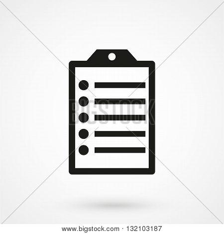 Clip Board Icon Black On White Background
