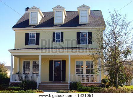 Yellow Cape Cod Style Dream Home