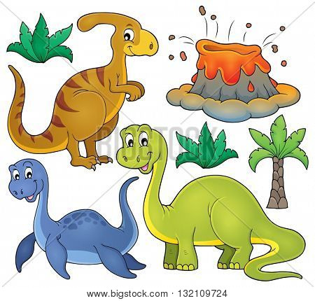Dinosaur topic set 3 - eps10 vector illustration.