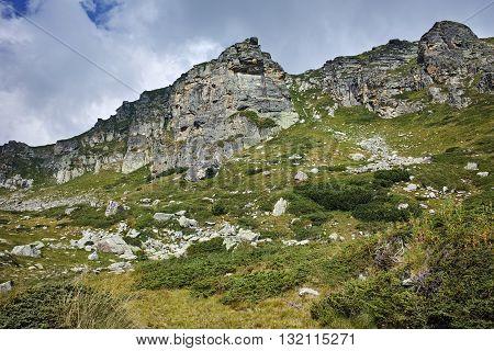 Landscape of Rila Mountan near The Seven Rila Lakes, Bulgaria