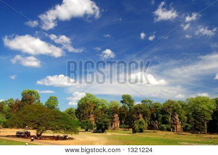 Skyscape Of Prasat Suor Prats, Combodia