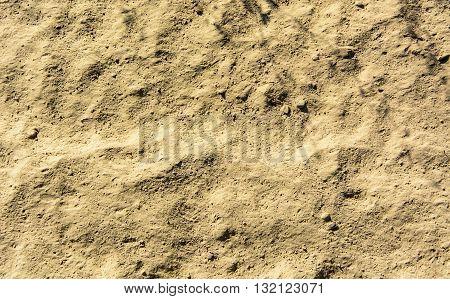 Texture of light brown loess soil dirt
