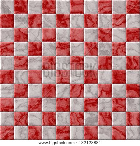 Checkerboard decorative texture - red and white pattern