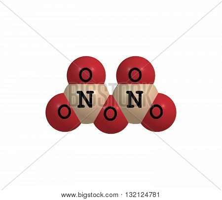 Dinitrogen pentoxide or nitrogen pentoxide is the chemical compound with the formula N2O5. N2O5 is one of the binary nitrogen oxides a family of compounds that only contain nitrogen and oxygen. 3d illustration