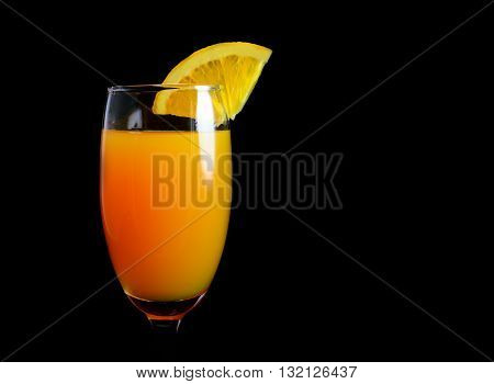 Mimosa Cocktail With A Slice Of Orange