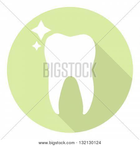 Molar Tooth Healthy And Shiny Dental Icon