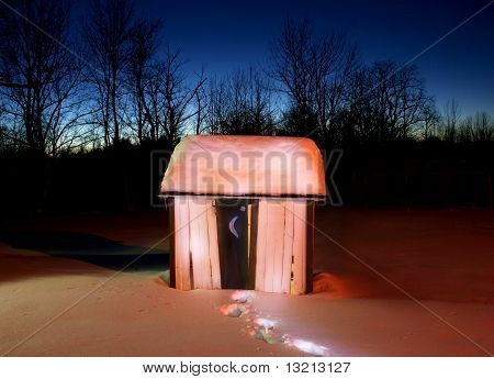 Glowing Outhouse