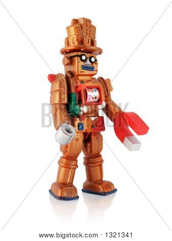 Copper Plastic Casino Robot