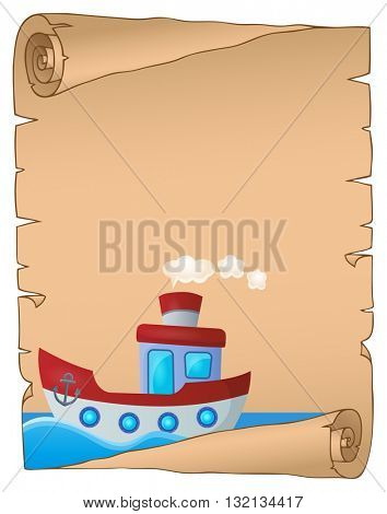 Parchment with nautical boat theme 1 - eps10 vector illustration.