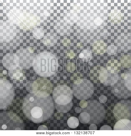 Abstract bokeh effect on light grey background. Vector eps10 illustration
