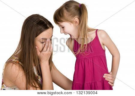 problems between parents and children. scandal and quarrel