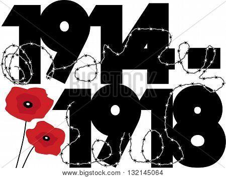 World War One Symbolic graphic design, EPS8 vector illustration