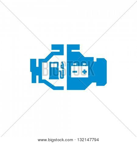 Hybrid Car Engine Vector Icon