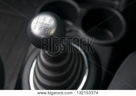 Car interior. manual transmission gear shift. car, gear, stick, move, manual,