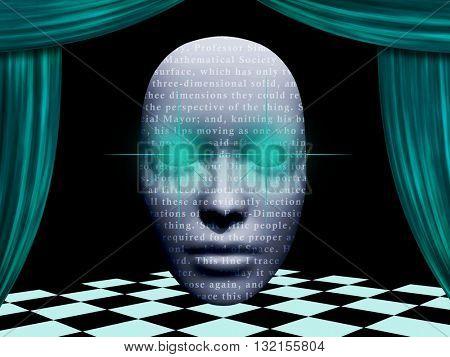 surreal face 3D Render