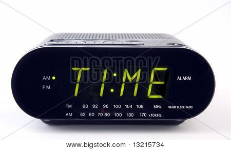 Clock Radio With The Word Time
