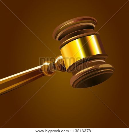 a colorful illustration of a hammer in court