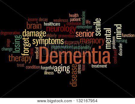 Dementia, Word Cloud Concept 6