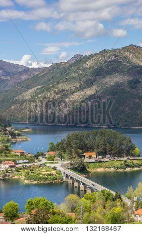 Bridge Over A Lake In Peneda Geres