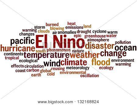 El Nino, Word Cloud Concept 6