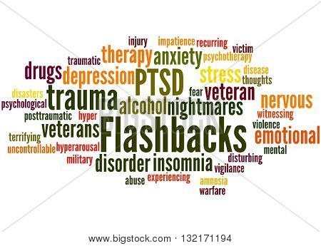 Flashbacks, Word Cloud Concept 8