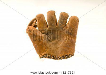 Old Leather Baseball Mitt