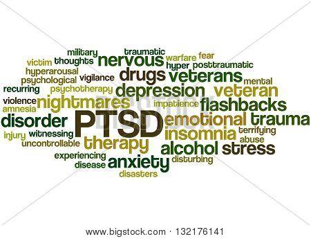 Posttraumatic Stress Disorder - Ptsd, Word Cloud Concept