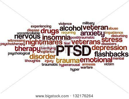 Posttraumatic Stress Disorder - Ptsd, Word Cloud Concept 3