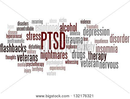 Posttraumatic Stress Disorder - Ptsd, Word Cloud Concept 5