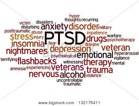 Posttraumatic Stress Disorder - Ptsd, Word Cloud Concept 8