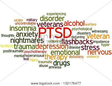 Posttraumatic Stress Disorder - Ptsd, Word Cloud Concept 9