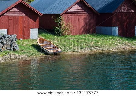 Boat and Boat Houses in Olden Norway