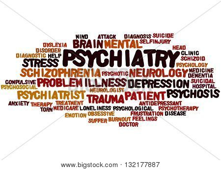 Psychiatry, Word Cloud Concept 3
