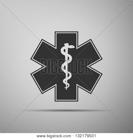 Medical symbol of the Emergency - Star of Life icon. Vector illustration.