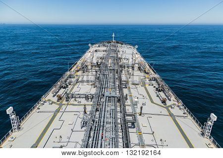 Tanker deck view from the aft mast