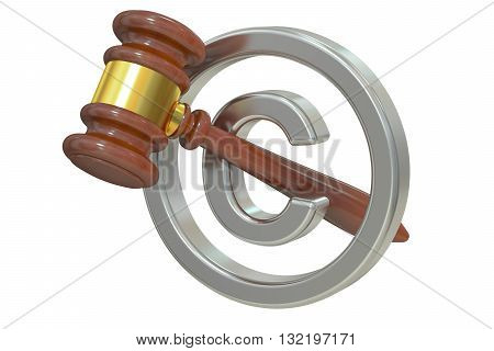 Copyright laws and intellectual property legal protection 3D rendering