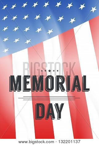 Happy Memorial Day background template.Happy Memorial Day concept. Happy Memorial Day poster. Vector illustration.