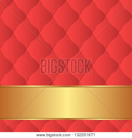 decorative background with quilted fabric pattern - vector illustration