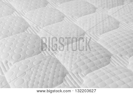 shot of Background of soft white mattress