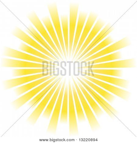 Sunburst abstract vector
